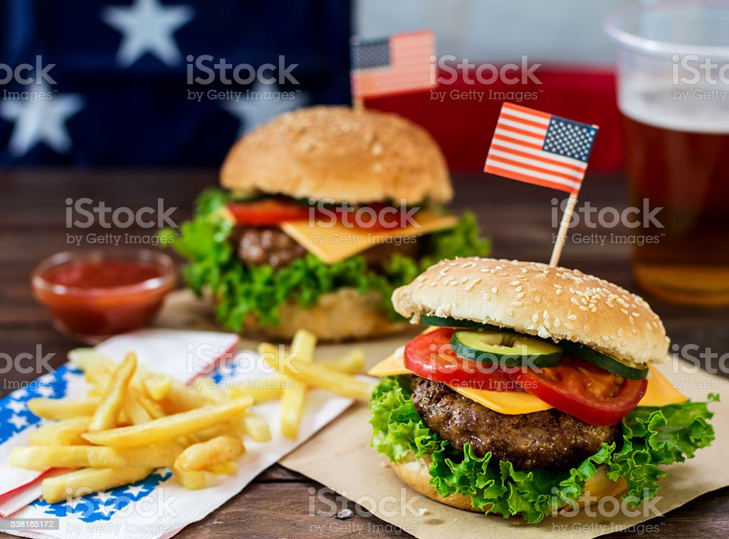 American Burger stock photo