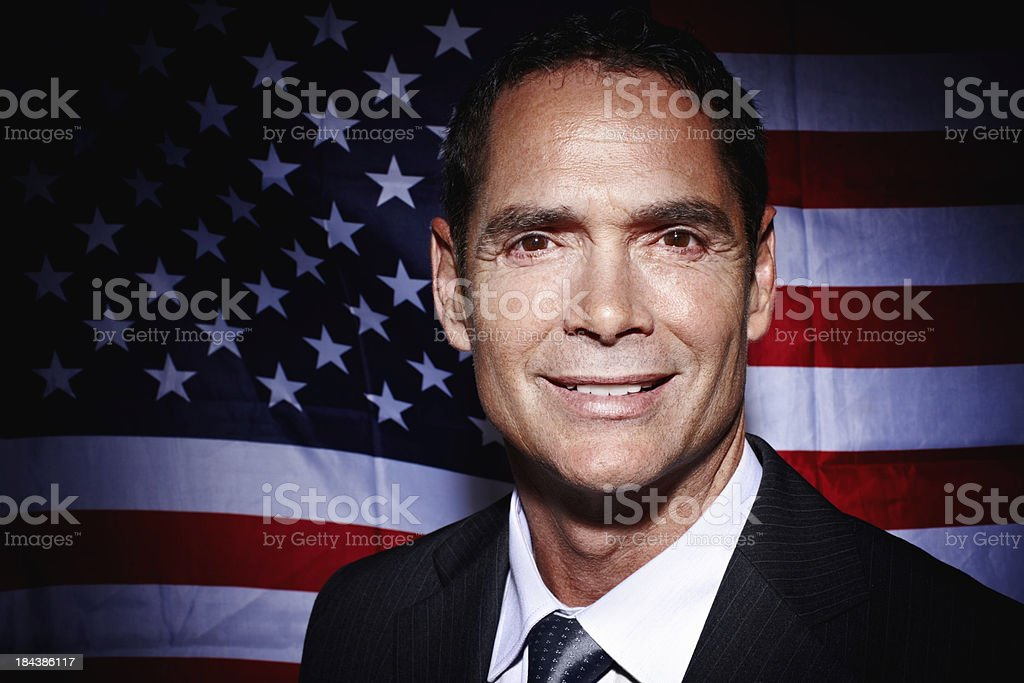 American business man smiling stock photo
