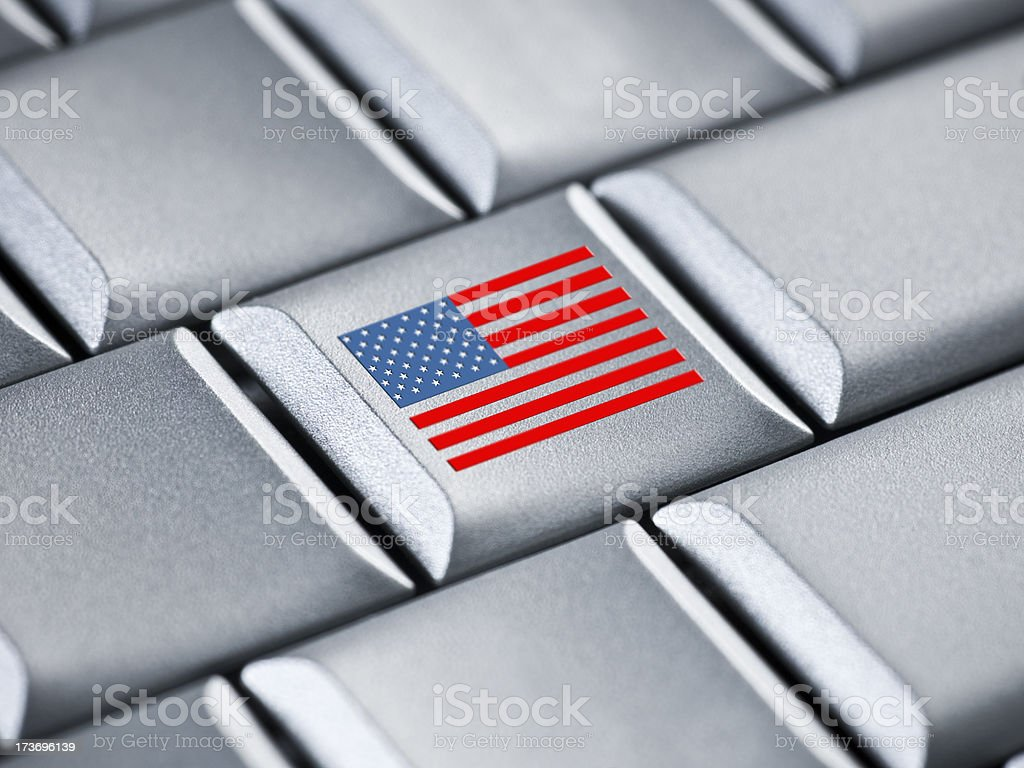 American business on a laptop royalty-free stock photo