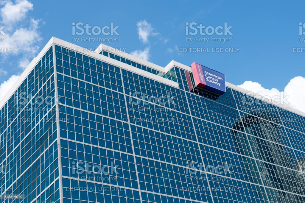 American Cancer Society building in downtown Atlanta stock photo