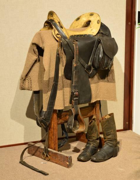 Amerikanischer Kavalleriesattel aus dem amerikanischen Bürgerkrieg – Foto