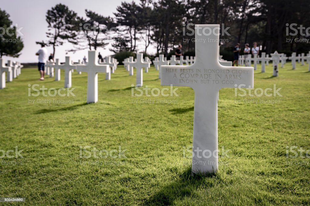 American Cemetery At Colleville Sur Mer, Normandy, France stock photo