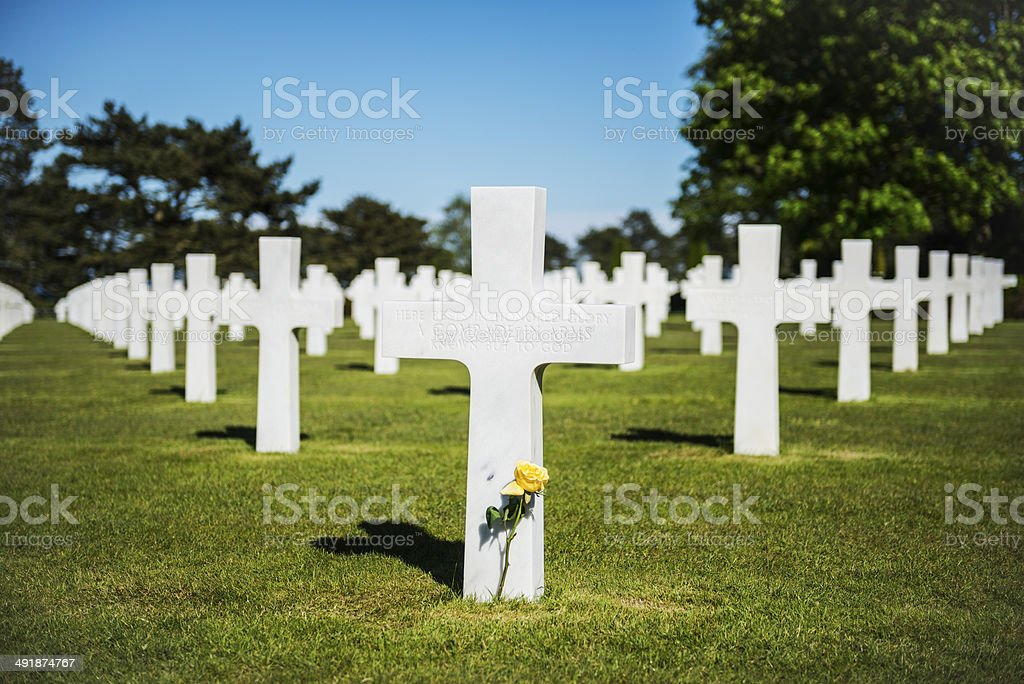 American cemetery at Normandy royalty-free stock photo