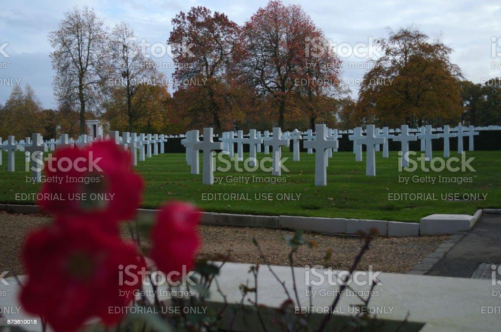 American Cemetery Cambridge UK stock photo