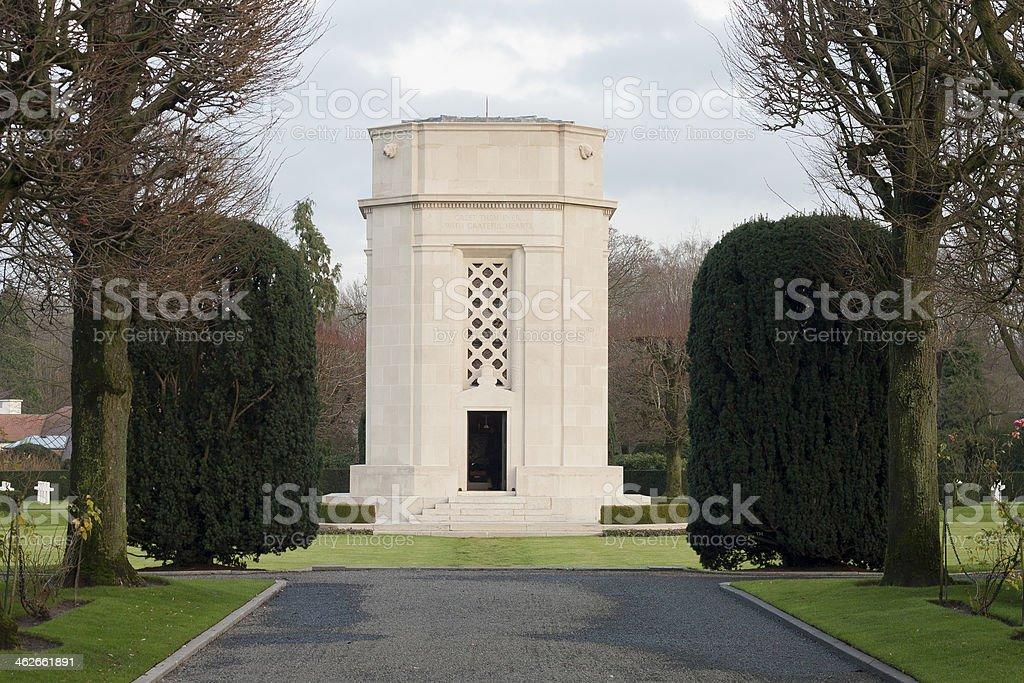 American cemetery Flanders field Belgium Waregem stock photo