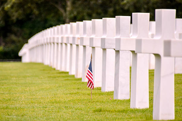 American Cemetery in Normandy Photo Picture of French American Cemetery in Normandy normandy stock pictures, royalty-free photos & images