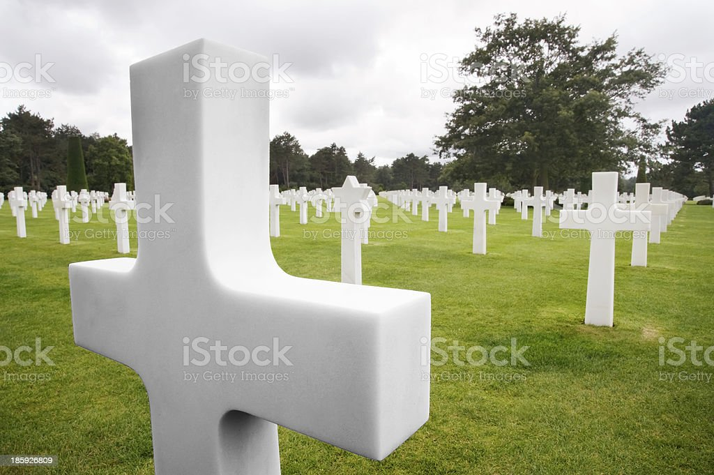 American cemetery royalty-free stock photo