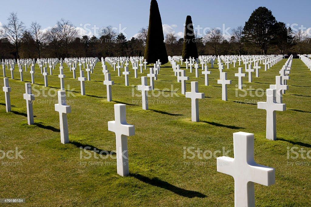 American Cemetery stock photo