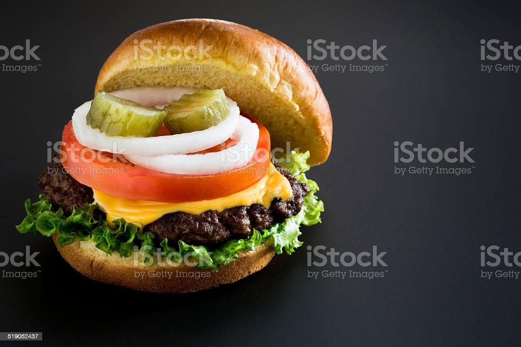 American Cheeseburger stock photo