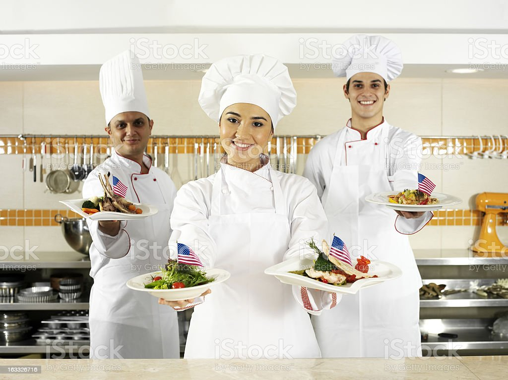American Chefs royalty-free stock photo