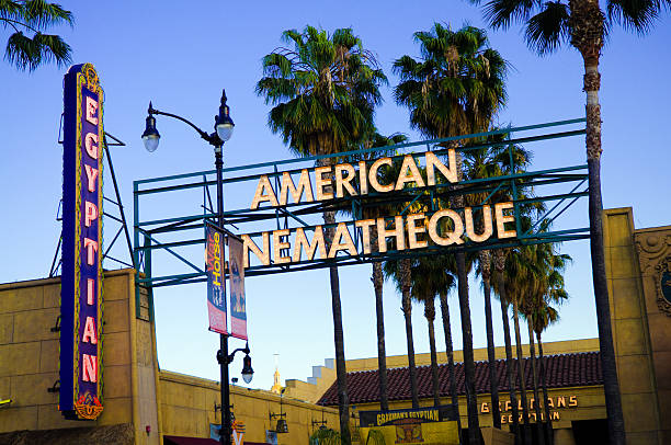 American Cinematheque at Egyptian Theatre in Los Angeles, CA stock photo