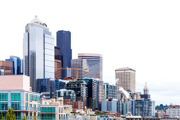 american city - seattle - generic location stock pictures, royalty-free photos & images