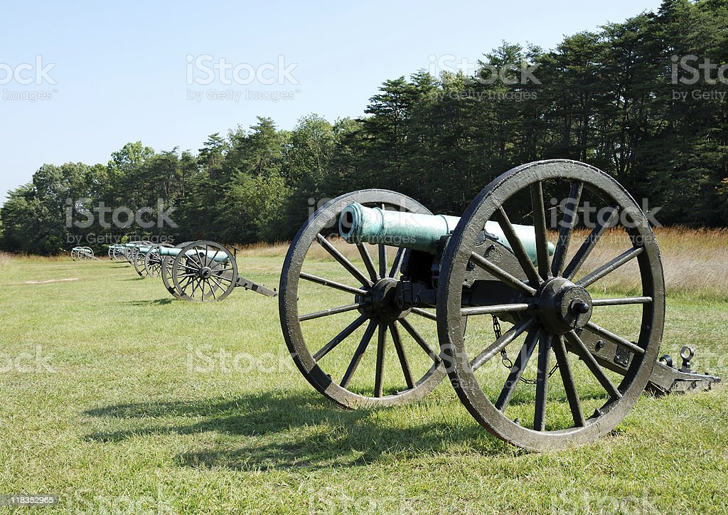 American Civil War Cannon royalty-free stock photo