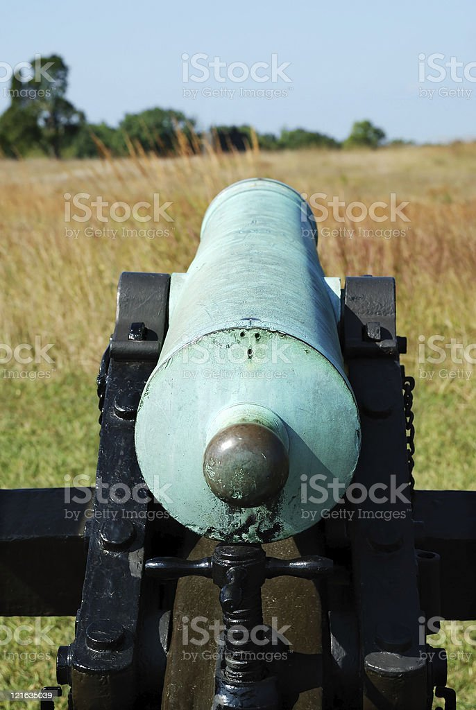 American Civil War Cannon royalty-free stock photo