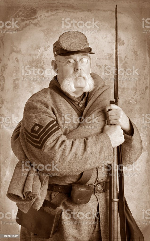 American Civil War Confederate Soldier. royalty-free stock photo