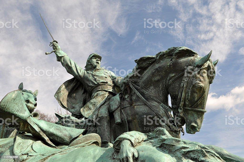 American Civil War Memorial Statue stock photo