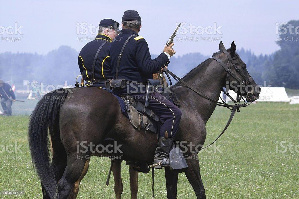 American Civil War Reenactment - Cavalry royalty-free stock photo