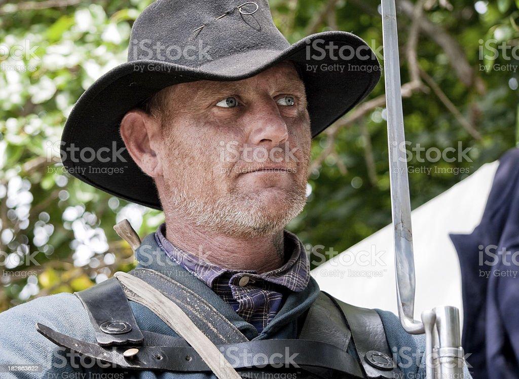 American Civil War, Union Solder Portrait stock photo