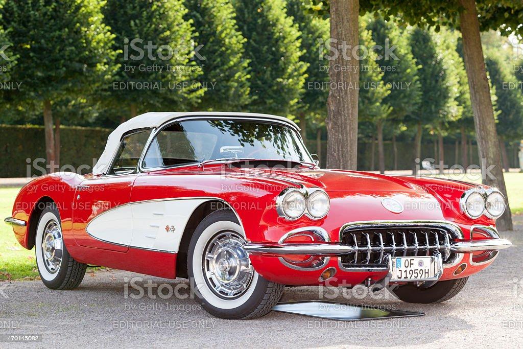American Classic Car 1958 Chevrolet Corvette C1 Stockfoto Und Mehr Bilder Von 1950 1959 Istock