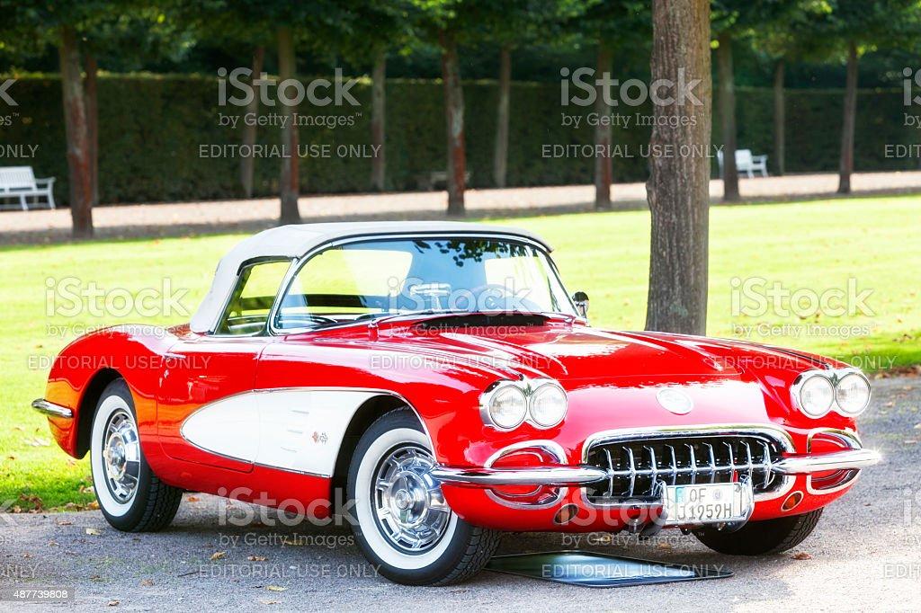 American Classic Car 1958 Chevrolet Corvette C1 stock photo