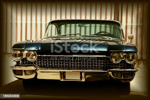 istock American Classic Car, Front View, Cadillac Coupe De Ville, 185064658
