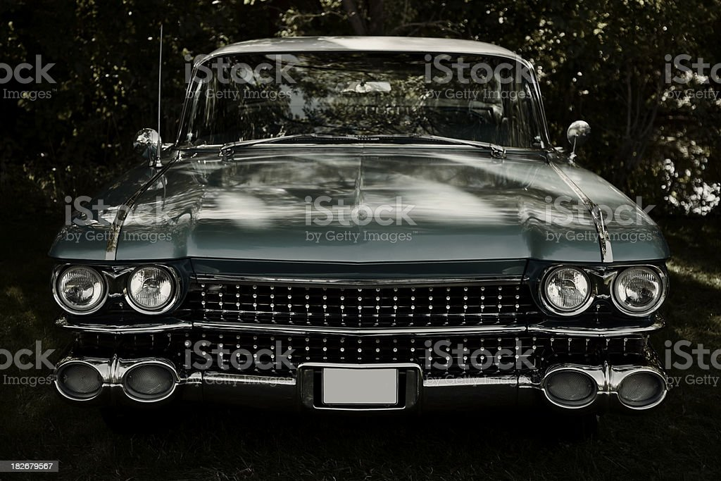 American Classic Car Front View, Cadillac de Ville stock photo