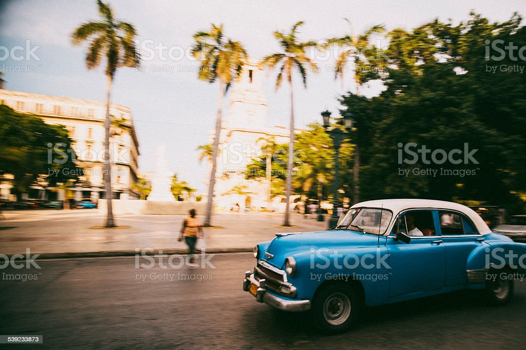American classic car in Havana, Cuba royalty-free stock photo