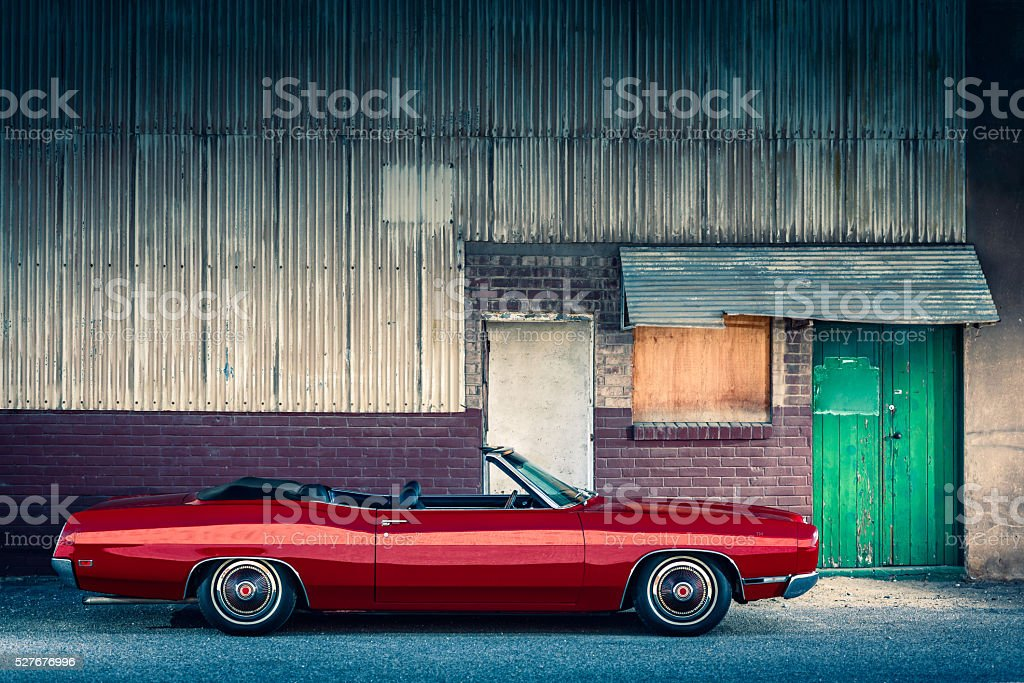 American classic muscle car stock photo