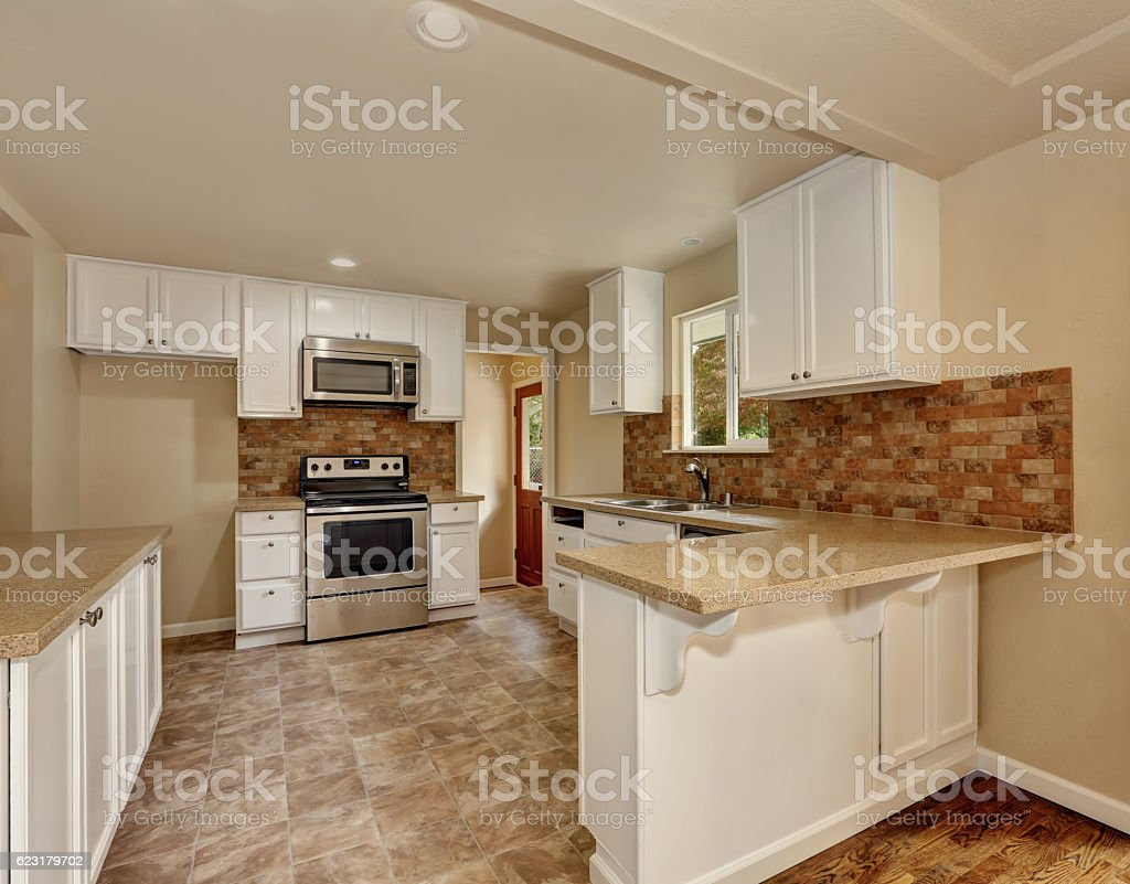 American Classic Style Kitchen Room Interior Stockfoto und ...