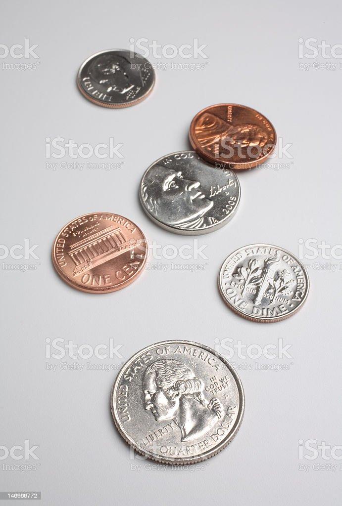 american coin money stock photo