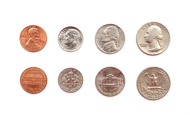 american coins - nickel stock photos and pictures