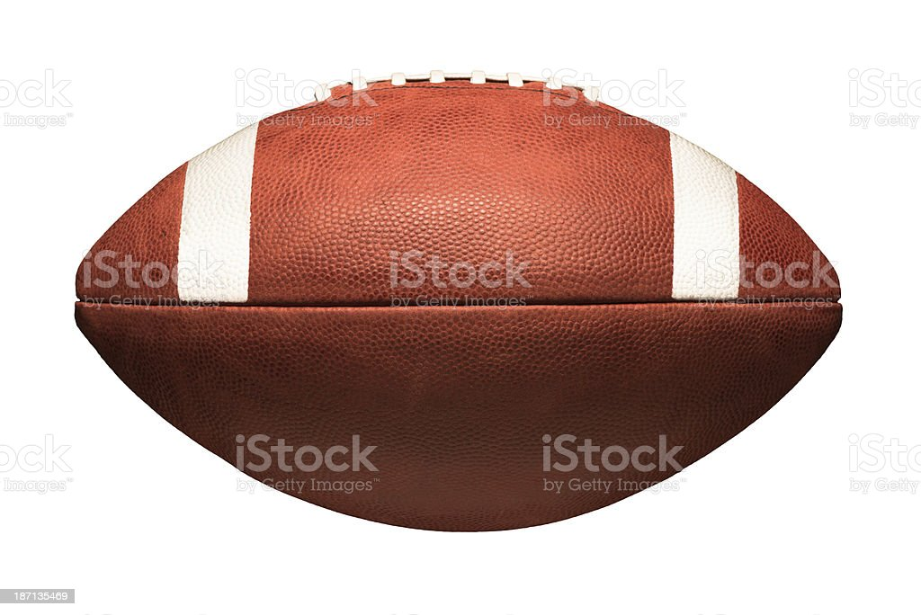 American College Football Isolated on White Background stock photo