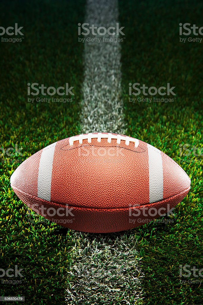 American College Football on Grass stock photo