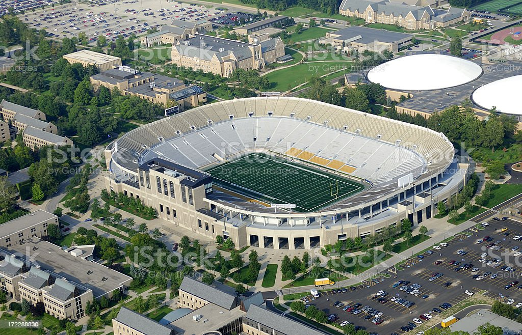 American college football stadium. royalty-free stock photo
