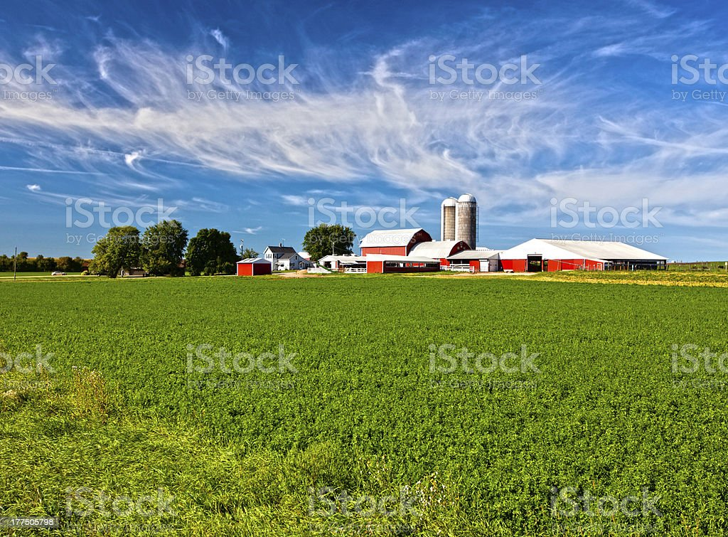 American Country Farm stock photo
