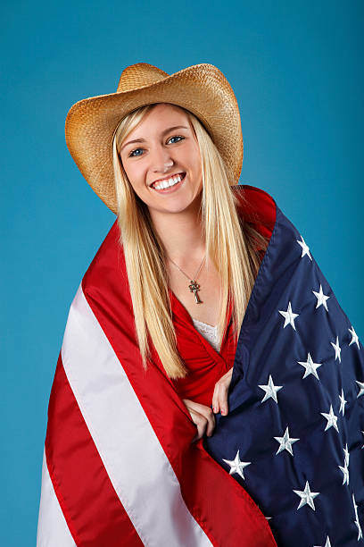 American Country Girl stock photo