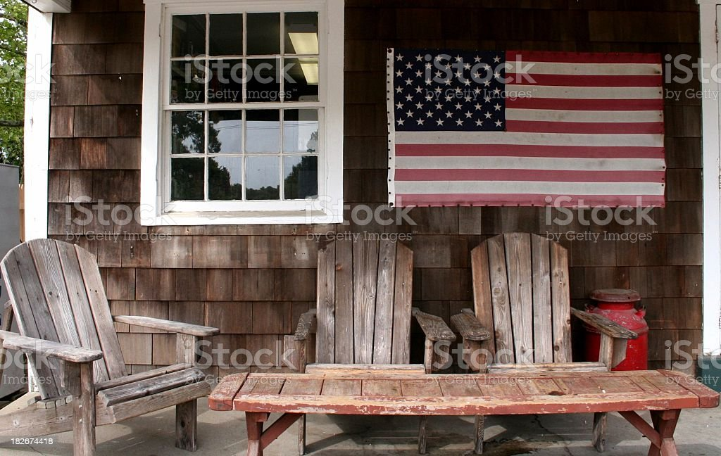 American country porch stock photo