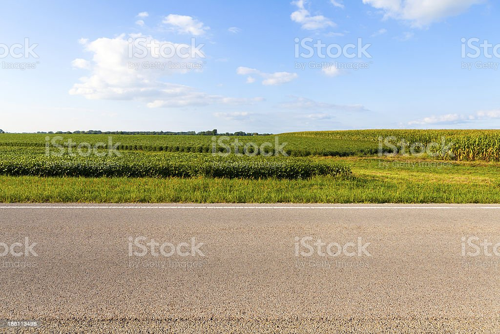 American Country Road Side View stock photo