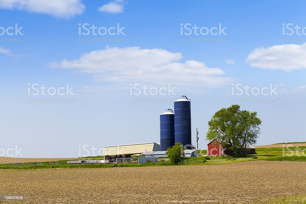 American Countryside in Summer Time royalty-free stock photo