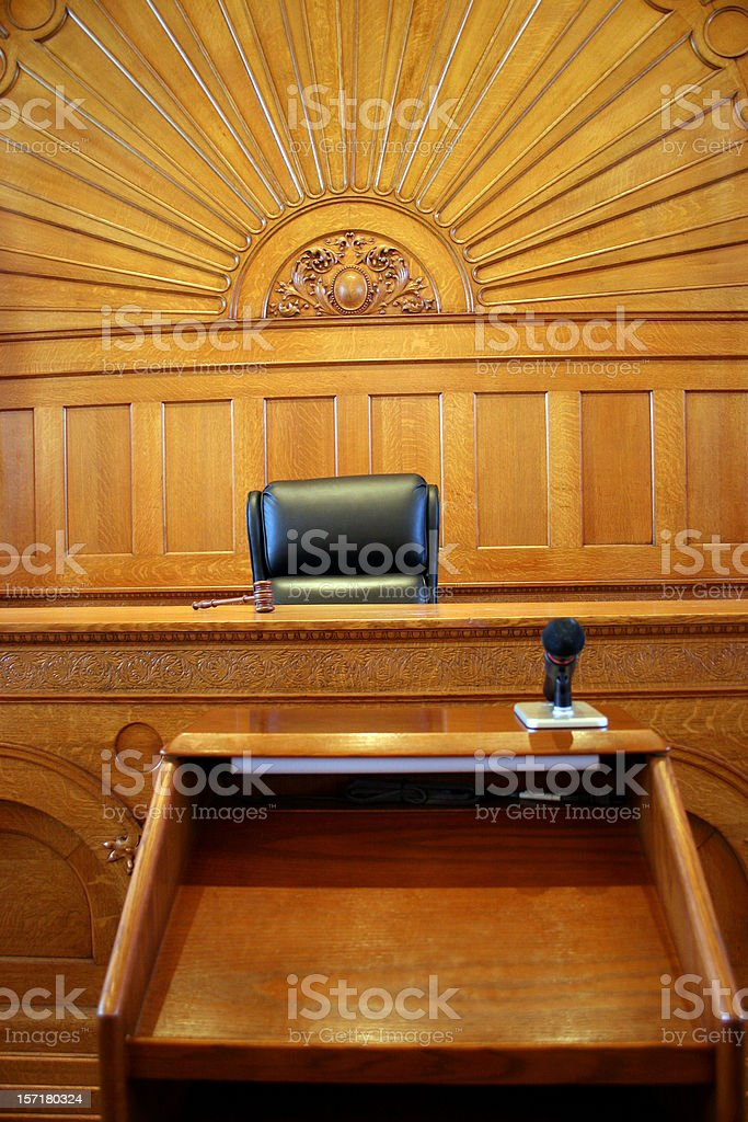 American Courtroom 2 Vertical royalty-free stock photo
