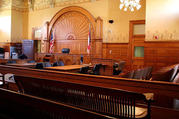 American Courtroom 3 stock photo