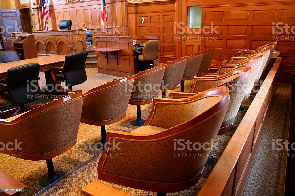 American Courtroom stock photo