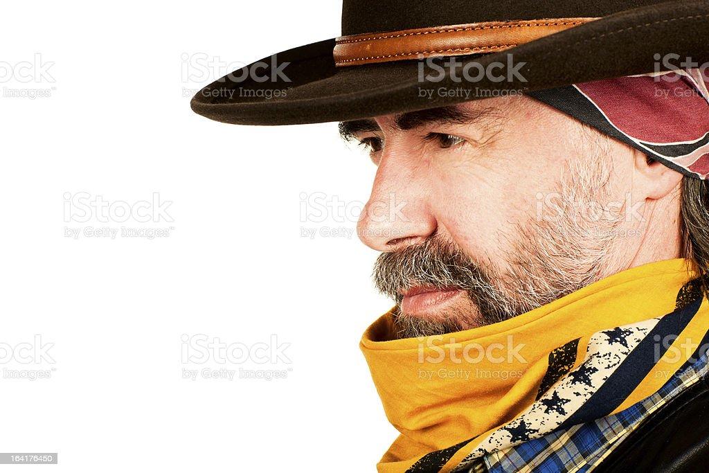 american cowboy closeup royalty-free stock photo