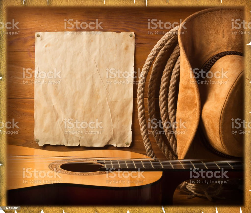 American cowboy Country music background stock photo