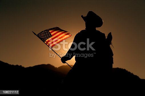 An American Cowboy shows his colors.