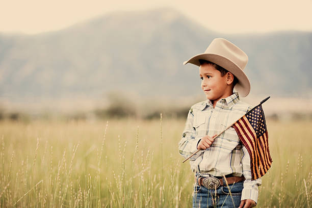 american cowboy - happy 4th of july stock pictures, royalty-free photos & images