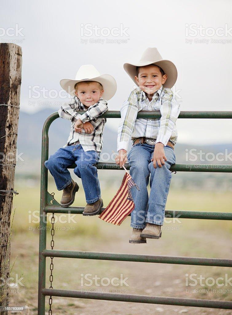 Amerikanische Cowboys Lizenzfreies stock-foto
