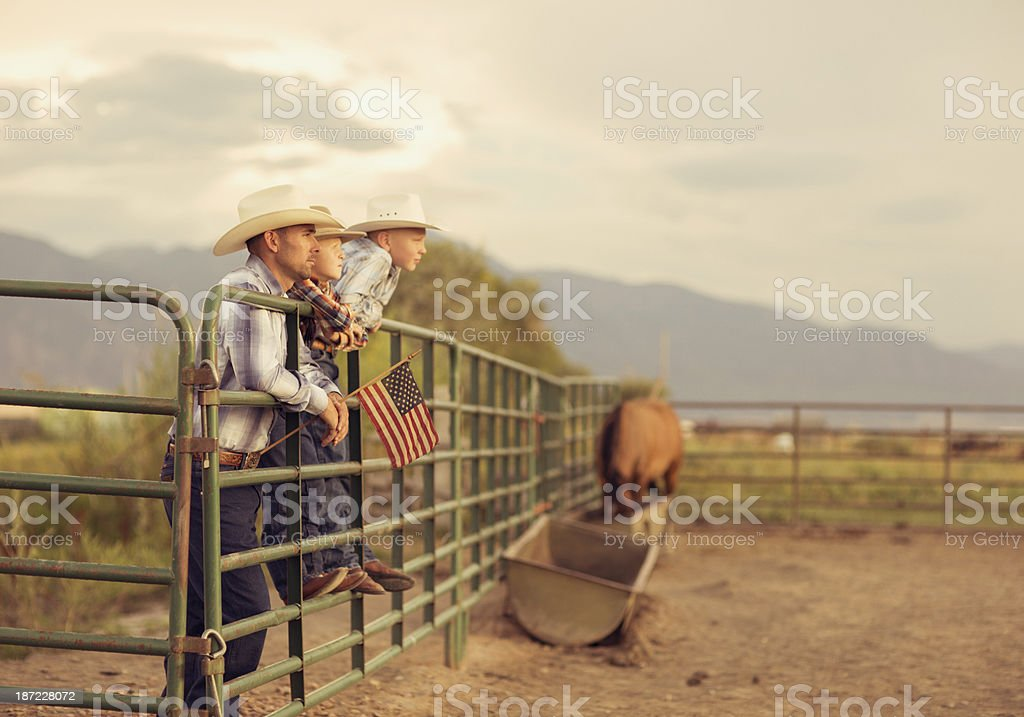 American Cowboys stock photo