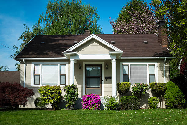 American craftsman house stock photo
