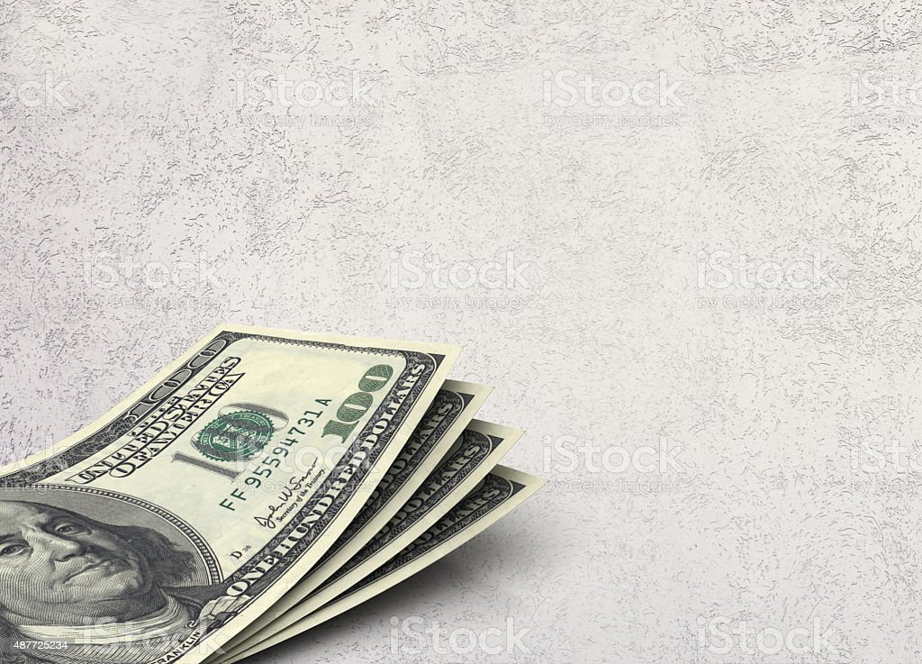 American Currency On Texture Background Stock Photo